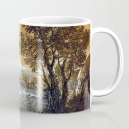 Francesco Zuccarelli A Landscape with Shepherds Resting Under a Tree by a Cascade Coffee Mug