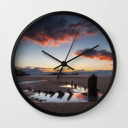 The wreck of the Helvetia and Worms Head Wall Clock