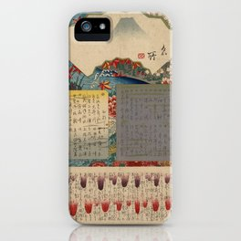 Table of Contents by Ando Hiroshige iPhone Case
