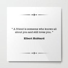 Elbert Hubbard Quote Metal Print