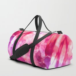 Artsy Abstract Summer Neon Pink Purple Tie Dye Duffle Bag