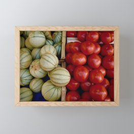 Melons and Tomatoes Framed Mini Art Print