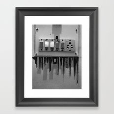 Switch On skyscrapers Framed Art Print