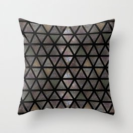 TRIANGLE GALAXY REPETITION Throw Pillow