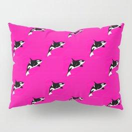 Pink Killer Whales Pillow Sham