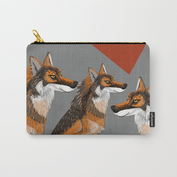 Totem Iberian wolf (GREFA) Carry-All Pouch
