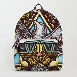 Trinity Merkabah Spirit Dove Mandala Backpack