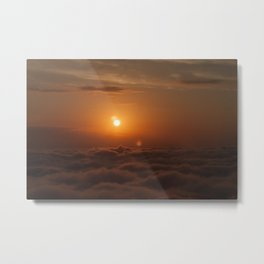 Three Sun SunSet Metal Print