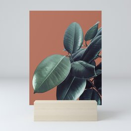 Ficus Elastica #17 #AutumnLeaf #foliage #decor #art #society6 Mini Art Print