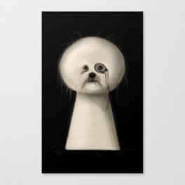 Pudel Canvas Print
