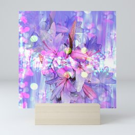 LILY IN LILAC AND LIGHT Mini Art Print
