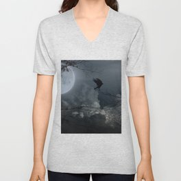 There's A Moon Out Tonight Unisex V-Neck