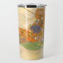 """Gustav Klimt """"Water Serpents"""" Travel Mug"""