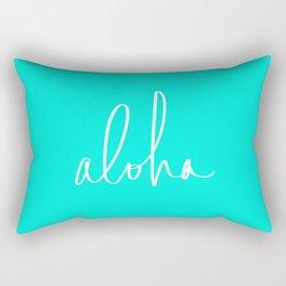 Aloha Tropical Turquoise Rectangular Pillow