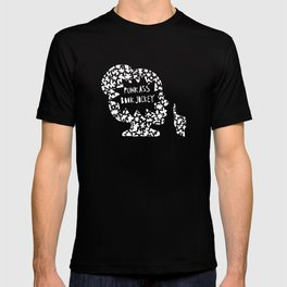 Punk Ass Book Jockey in Black and White T-shirt