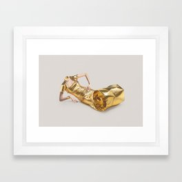 Lose your head - Gold tube Framed Art Print