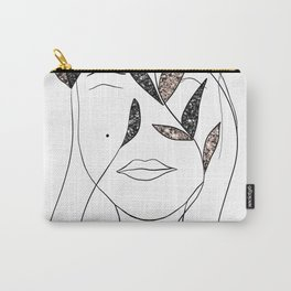 Glitter Lady #3 #minimal #line #art #society6 Carry-All Pouch