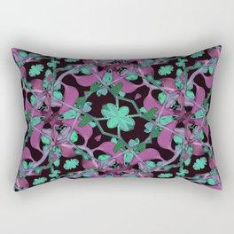Floral Arabesque Pattern Rectangular Pillow