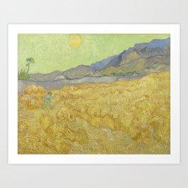 Vincent Van Gogh - Wheatfield With A Reaper Art Print