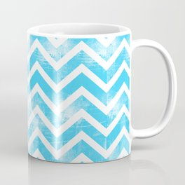 Maritime Aqua Teal Chevron Herringbone ZigZag - Mix & Match Coffee Mug