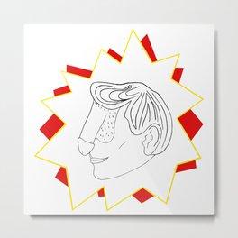 Pow! Dickface Metal Print