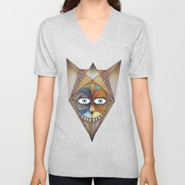 Parted and Feathered Unisex V-Neck