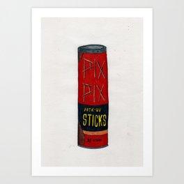 Pix, Pix, Pick Up Sticks Art Print