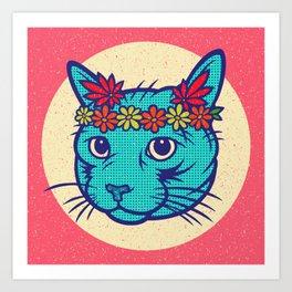 Flower Power (Electric Catnip) Art Print