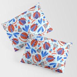 Classic Ladybug Botanical  Pillow Sham