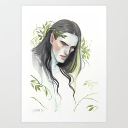 Green Man, portrait Art Print