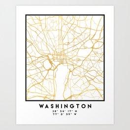WASHINGTON D.C. DISTRICT OF COLUMBIA CITY STREET MAP ART Art Print