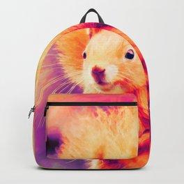 squirrel digital oil paint doplsh Backpack