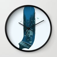 study Wall Clocks featuring Nature study by Aneesh vini