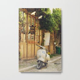 Vintage Vespa in Paris Metal Print