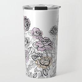 Rose Bush Drawing | Graphic Design Travel Mug