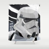 storm Shower Curtains featuring Stormtrooper by Liam Brazier