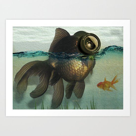 Fish eye lens Art Print