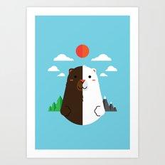 Grizzly & Polar Art Print