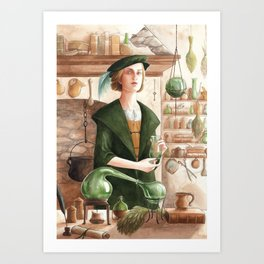 Hertha ~ A Compendium Of Witches Art Print