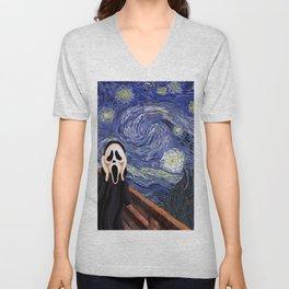 Scream Scary movie Unisex V-Neck