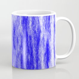 Bright texture of coated paper from blue flowing waves on a dark fabric. Coffee Mug