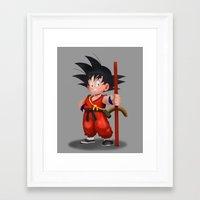 goku Framed Art Prints featuring Goku by hectordanielvargas