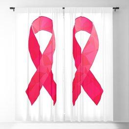 Pink Awareness Support Ribbon Design Blackout Curtain