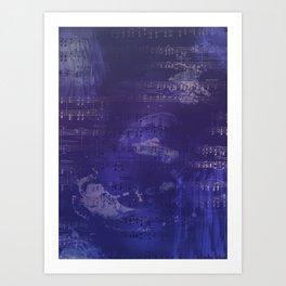 Sheet Music - Mixed Media Partiture #1 Art Print