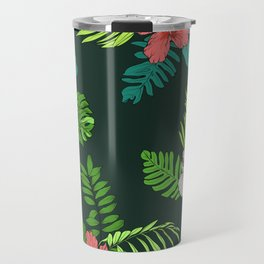 Hawaiian Vintage Tropical Flowers Travel Mug
