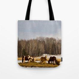 Peshtigo Horses Tote Bag