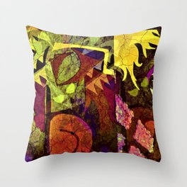 """""""Bad DNA"""" abstract painting Throw Pillow"""