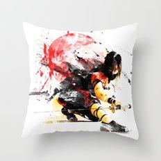Ninja Japan Throw Pillow