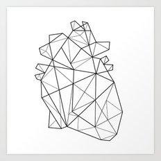 Origami Heart Art Print