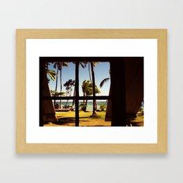 Tropical Fiji Beach Scene Framed Art Print